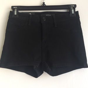 DSTLD black high waisted jean shorts size 24